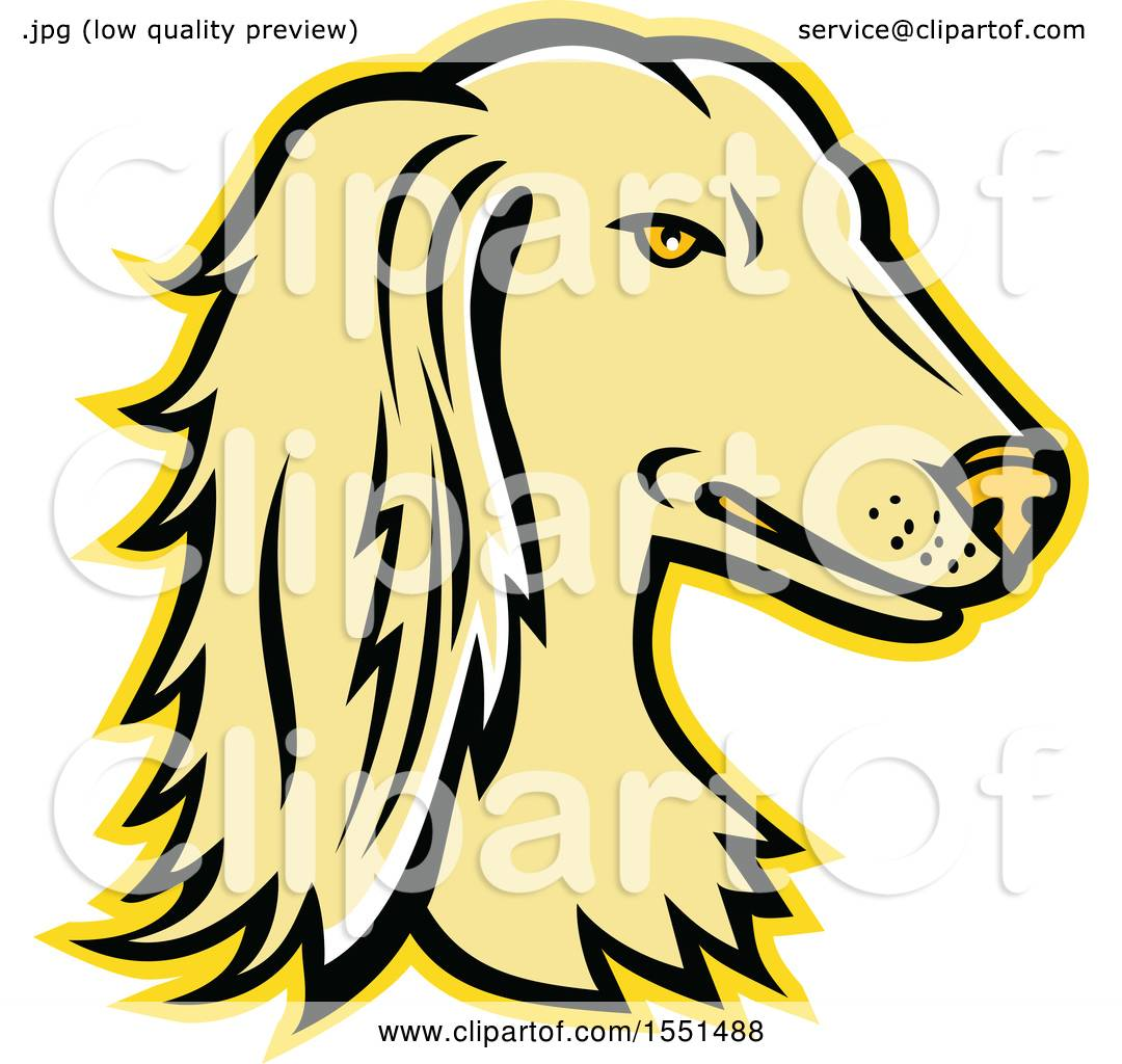 1080x1024 Clipart Of A Persian Greyhound Dog Mascot Head