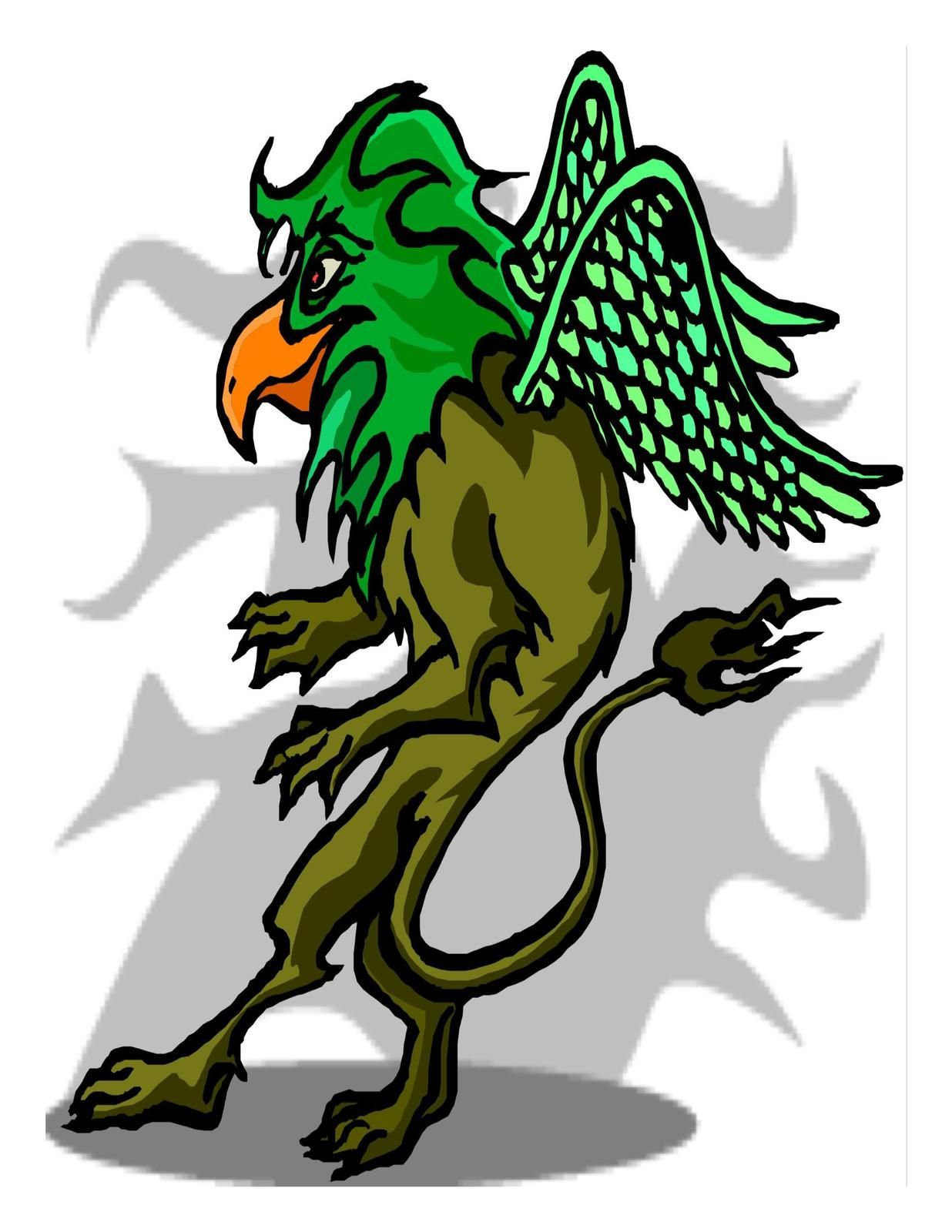 1236x1600 Griffin Sneaking Digital Download Clipart Art Clip Digital Art