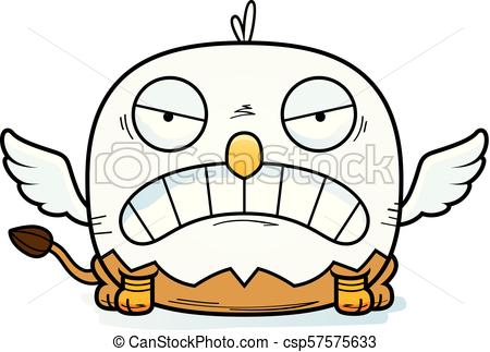 450x323 Angry Cartoon Griffin. A Cartoon Illustration Of A Griffin