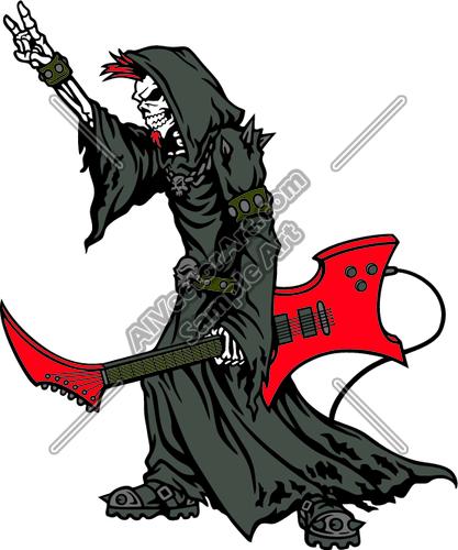 417x500 Grim Reaper Rocker Clipart And Vectorart Misc Graphics