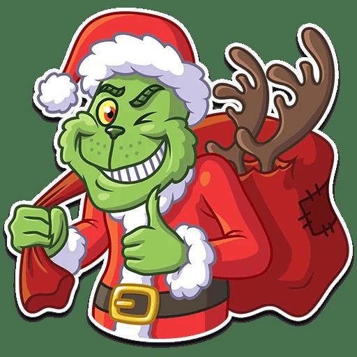 512x512 Grinch Sticker Telegram Santa Claus Clip Art