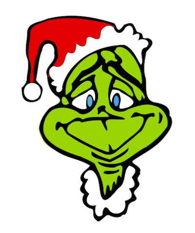 400x477 Grinch Wreath Free Christmas Clip Art From The Public Domain