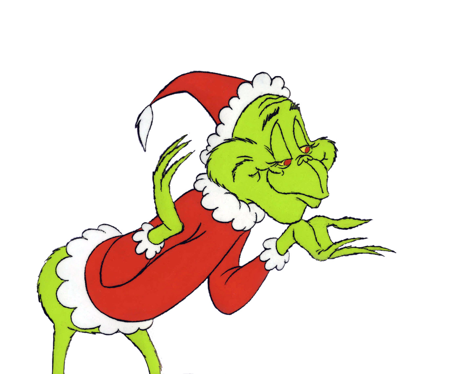 1500x1201 The Grinch Full Body Clipart