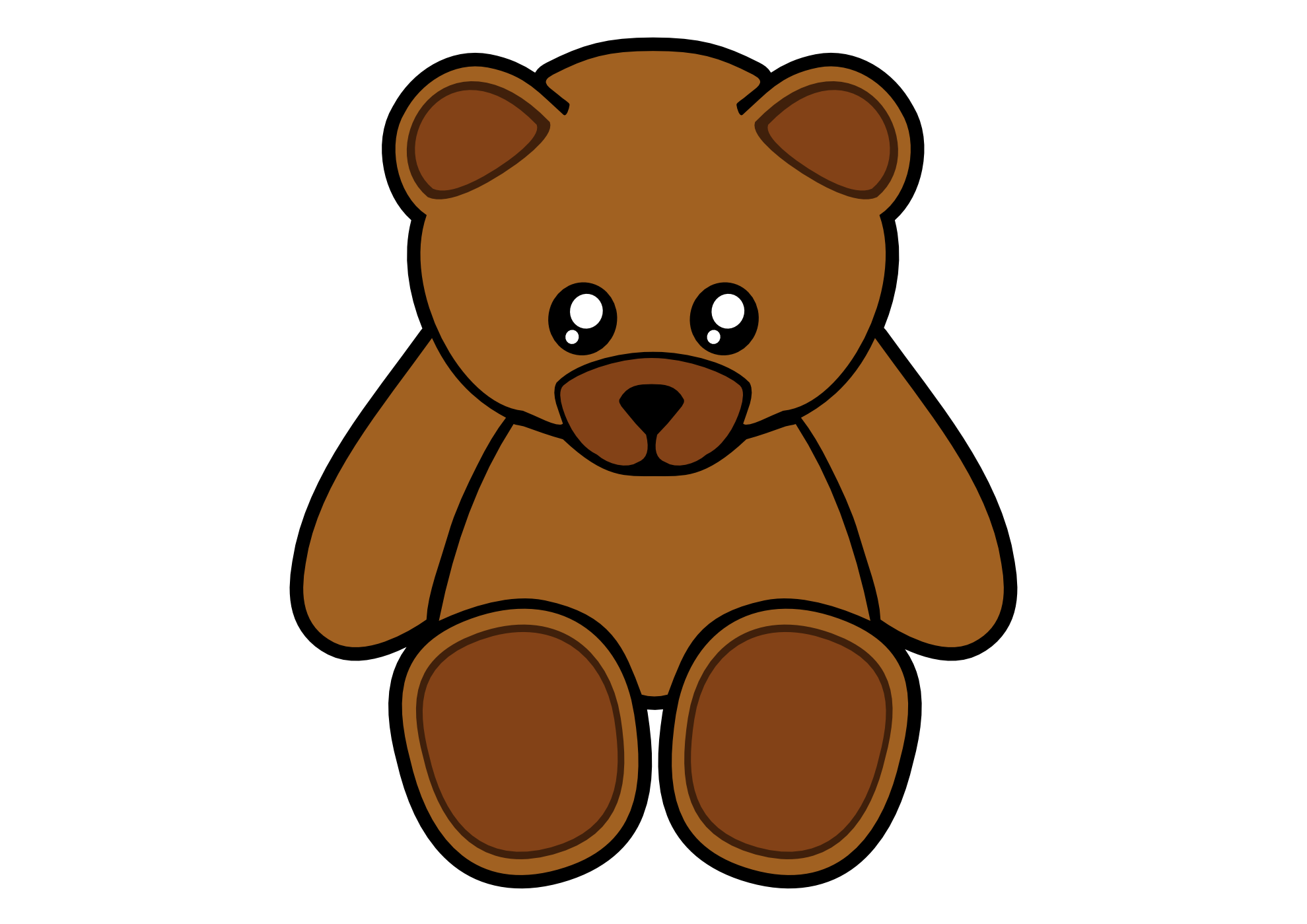 1979x1399 Cute Clipart Grizzly Bear