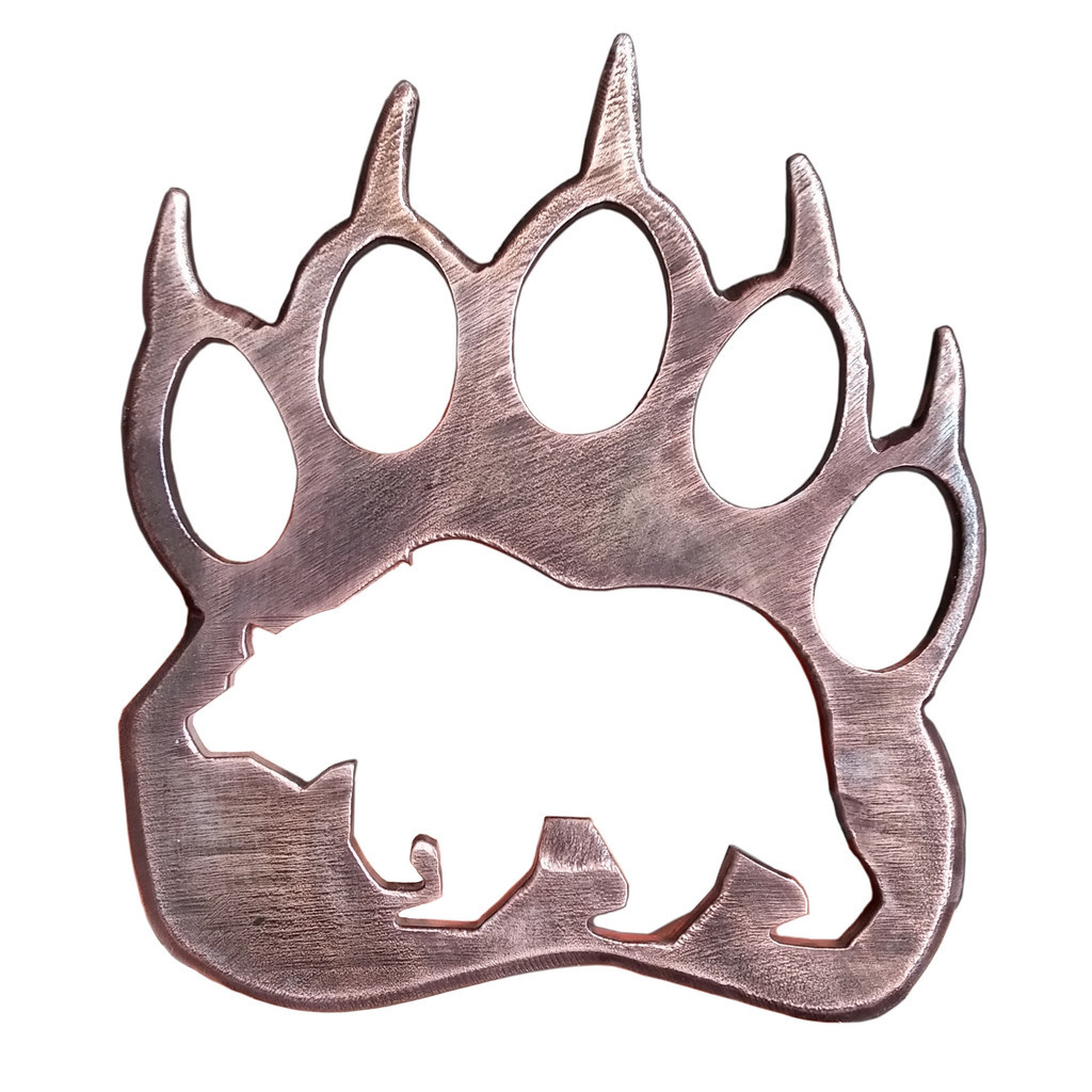 1024x1024 First Rate Grizzly Paw Print Clip Art Wooden Bear Pendant Google