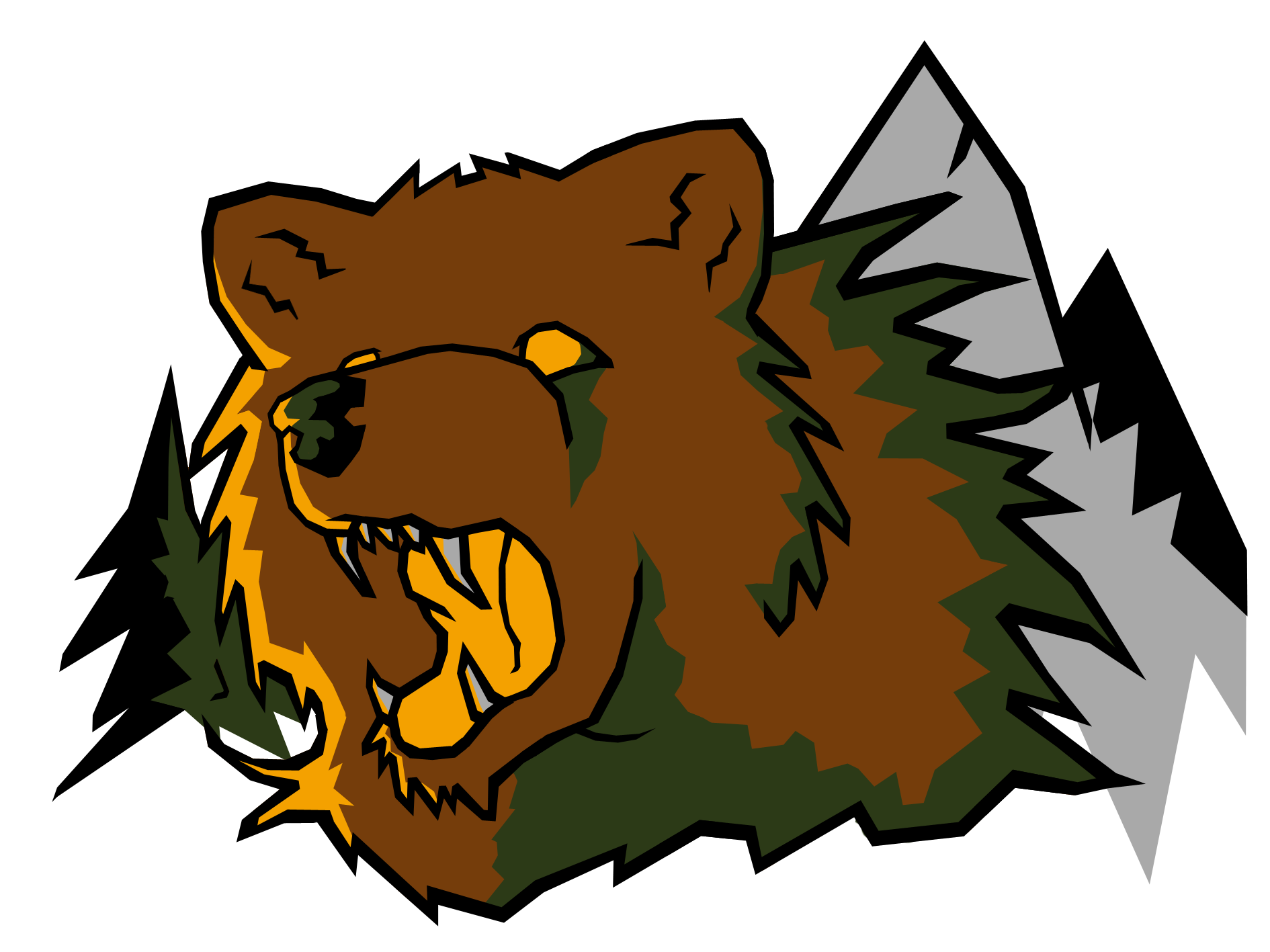 1890x1417 Grizzly Bear Sports Logo By Darkstarwolf07