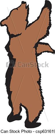 195x470 Grizzly Clipart Standing Bear