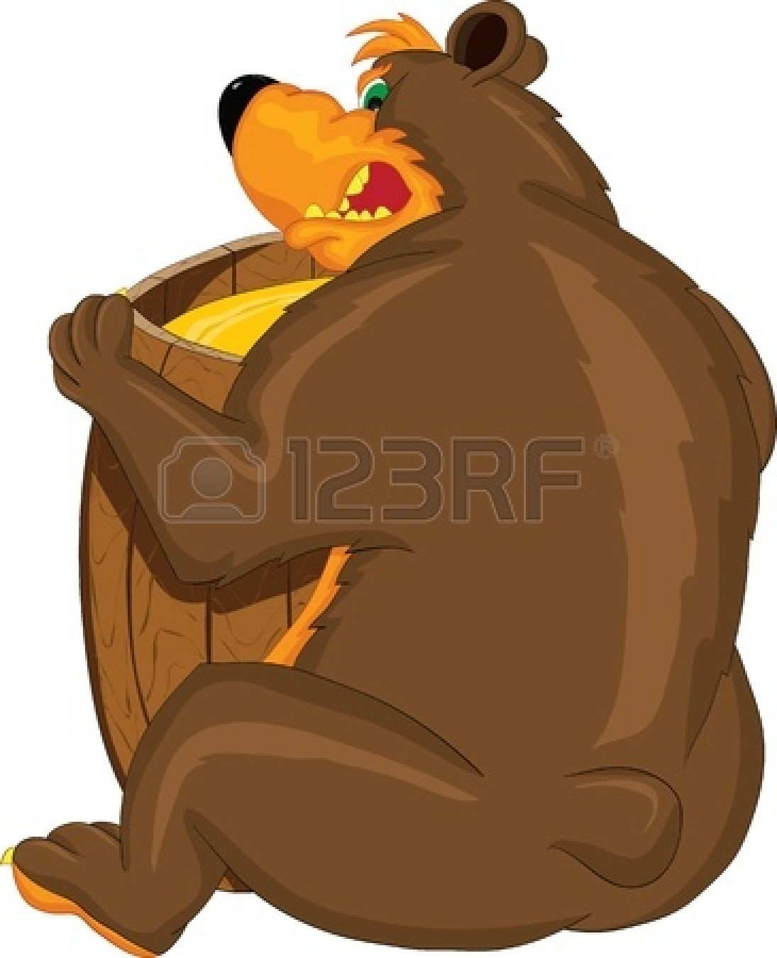 1095x1350 Growling Grizzly Bear Clipart Clipart Panda