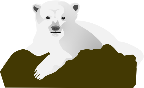 600x369 The Polar Bear Clip Art Free Vector 4vector