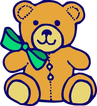 330x360 Blue Cartoon Bears Clip Art