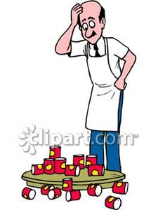 225x300 Grocery Store Worker Clipart