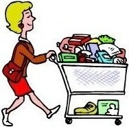 188x185 Grocery Shopping Clipart Clipartlook