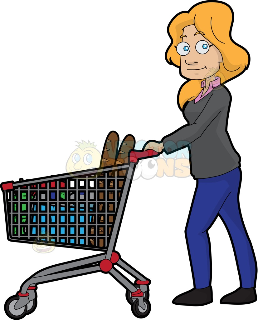 827x1024 Woman Shopping For Food In The Grocery Storet The Outside