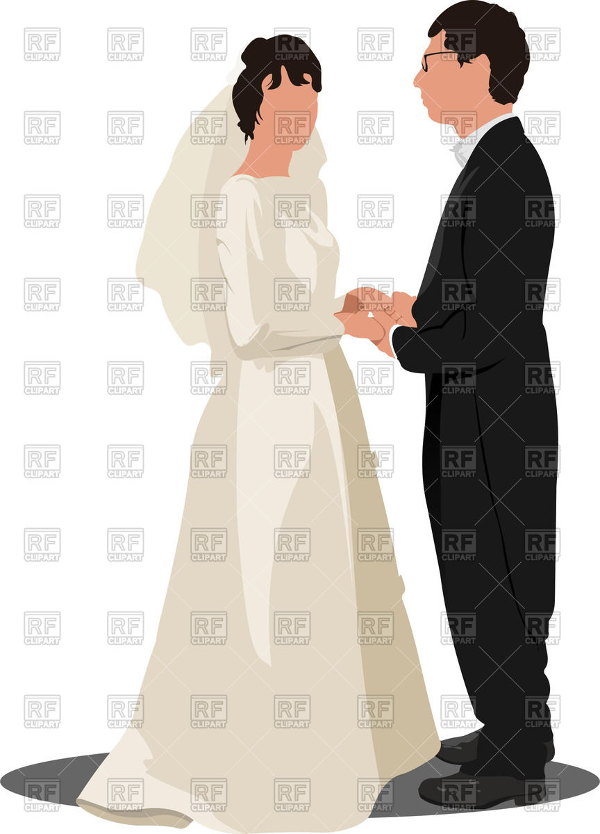 864x1200 Bride And Groom Royalty Free Vector Clip Art Image