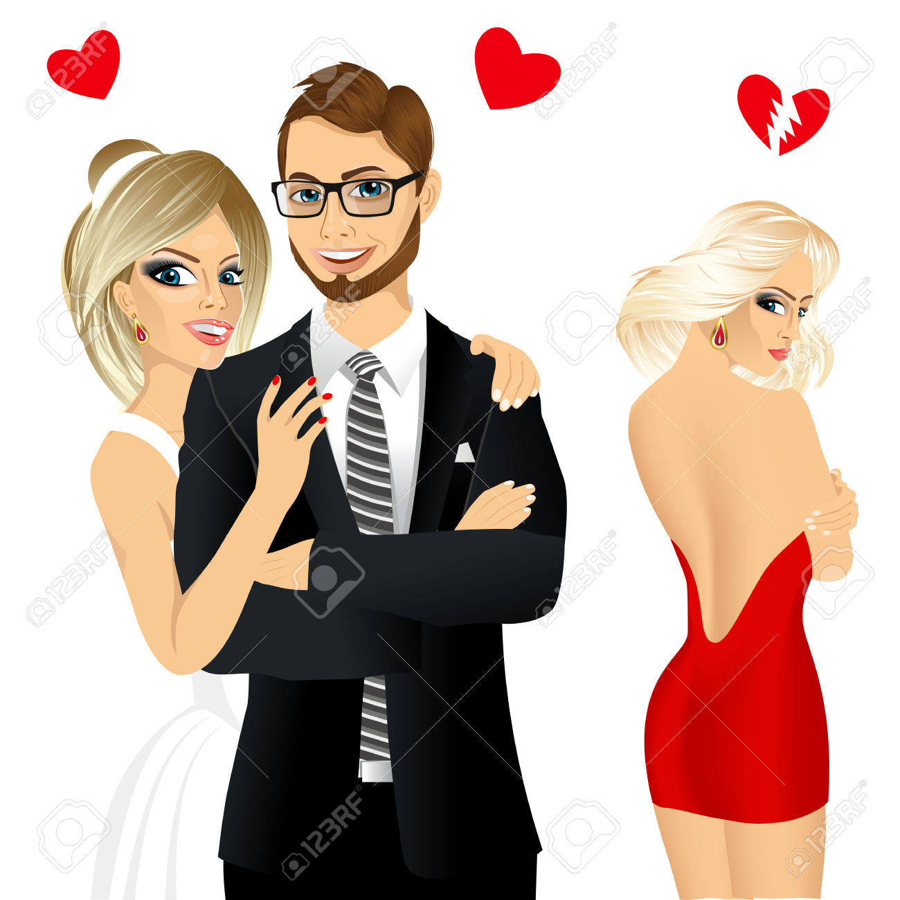 1300x1300 Blonde Clipart Bride And Groom