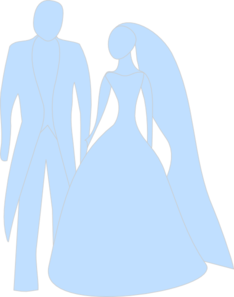 234x297 Blue Bride And Groom Clip Art