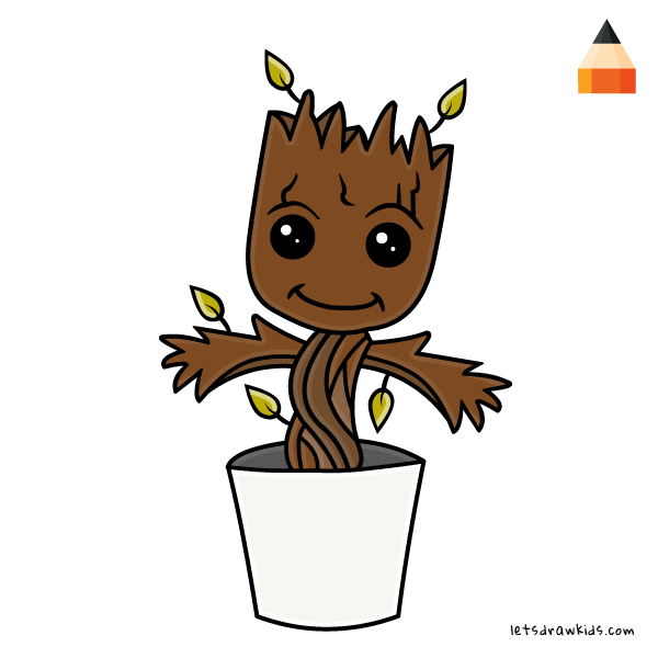 600x600 Guardians Of The Galaxy Clipart Baby Groot