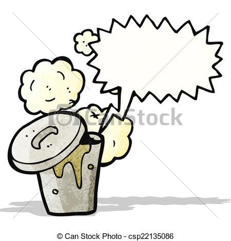 450x470 Gross Rubbish Bin Cartoon Vector