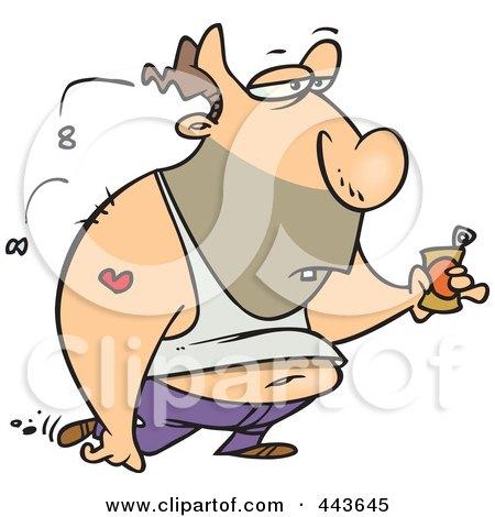 450x470 Royalty Free (Rf) Clip Art Illustration Of A Cartoon Gross Man
