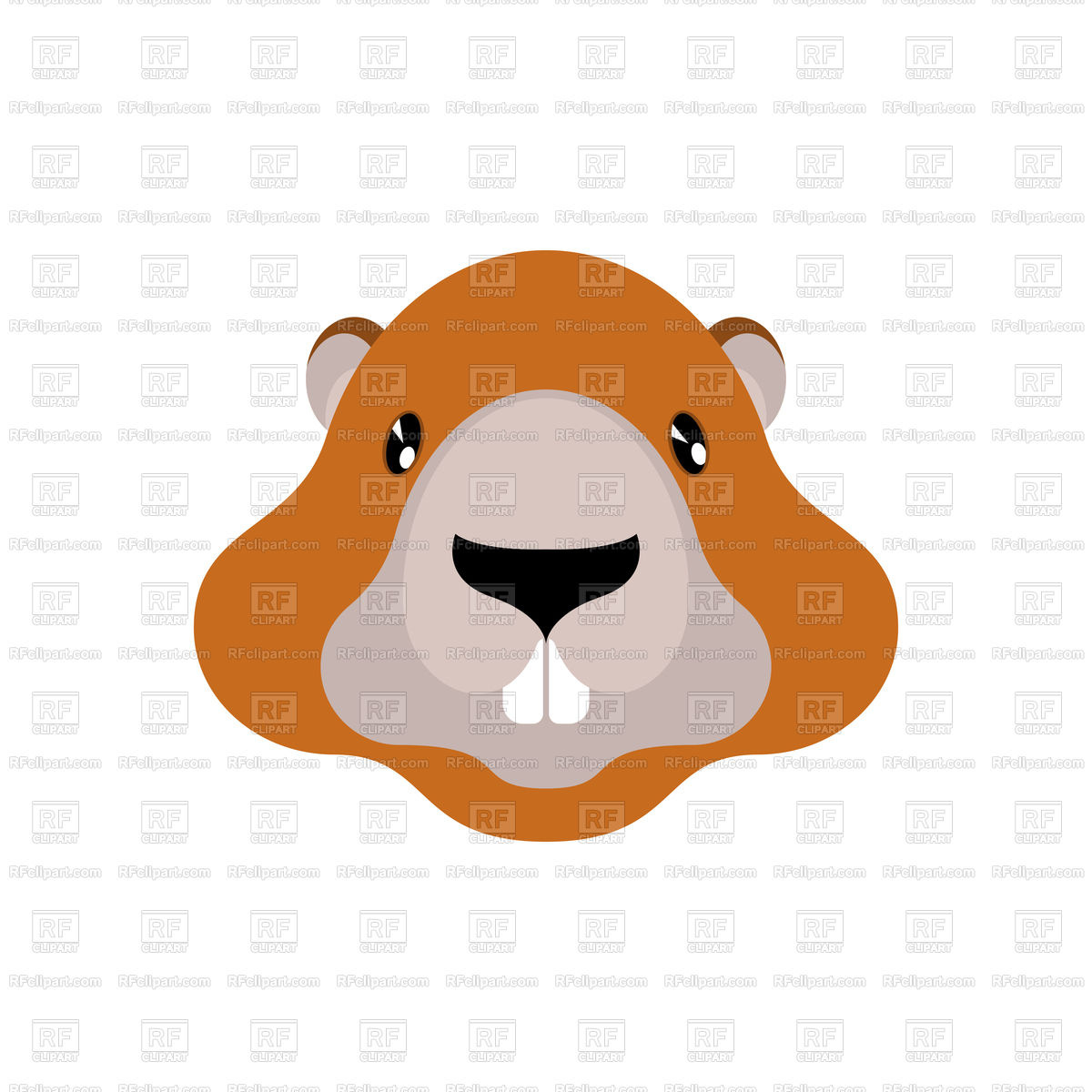 1200x1200 Groundhog Portrait Isolated Royalty Free Vector Clip Art Image