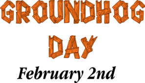 297x171 Groundhog Day Sign Clip Art