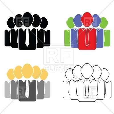 400x400 Stylized Group Of People Royalty Free Vector Clip Art Image