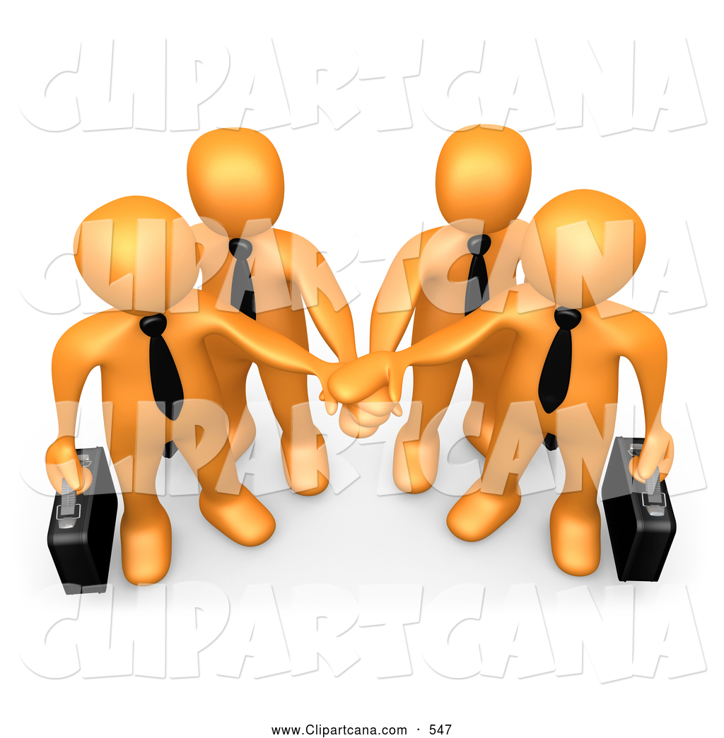 1024x1044 Vector Cartoon Clip Art Of A Group Of Orange Business People
