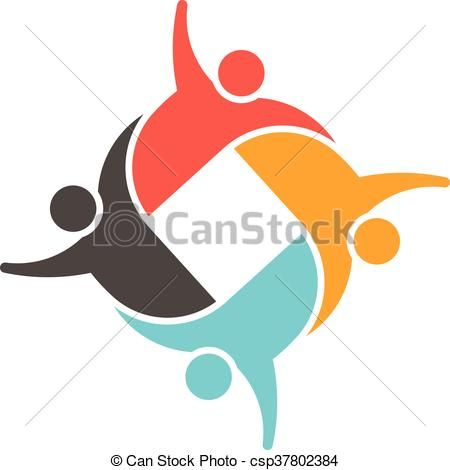 450x470 Vector Of People Family Logo
