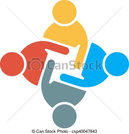 450x470 Eps Vector Of People Group Teamwork Logo. Vector Graphic Design