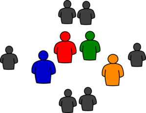 299x231 Group Of People In Round Clip Art