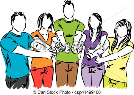 450x320 Group Of People Thumbs Up Illustration Clip Art Vector