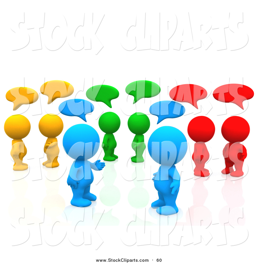 1024x1044 Clip Art Of A 3d Group Of Colorful People Chatting In A Social