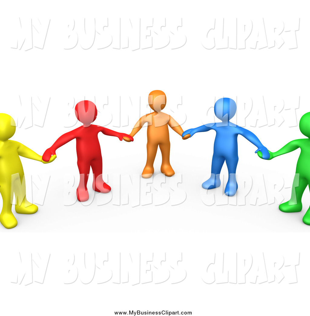 1024x1044 Clip Art Of A 3d Support Group Of Colorful People Holding Hands By