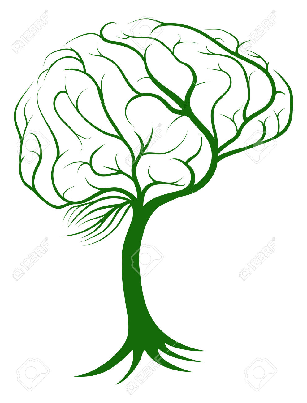 992x1300 Brain Growing Clipart