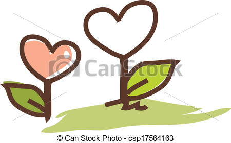 450x280 A Growing Flowers Clip Art Vector