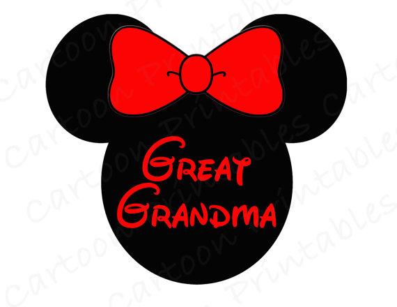 570x440 Minnie Mouse Great Grandma Image Use As Printable Iron On Transfer