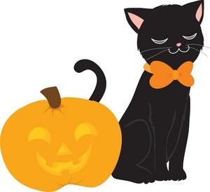 300x274 Black Cat Clipart Dog Black