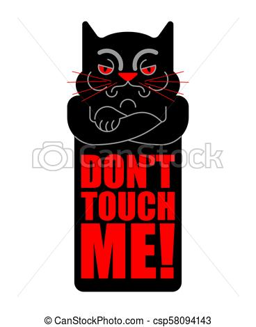 368x470 Dont Touch Me. Grumpy Cat. Vector Illustration Eps Vector