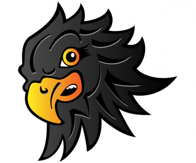 626x521 Black Eagle Clipart Head