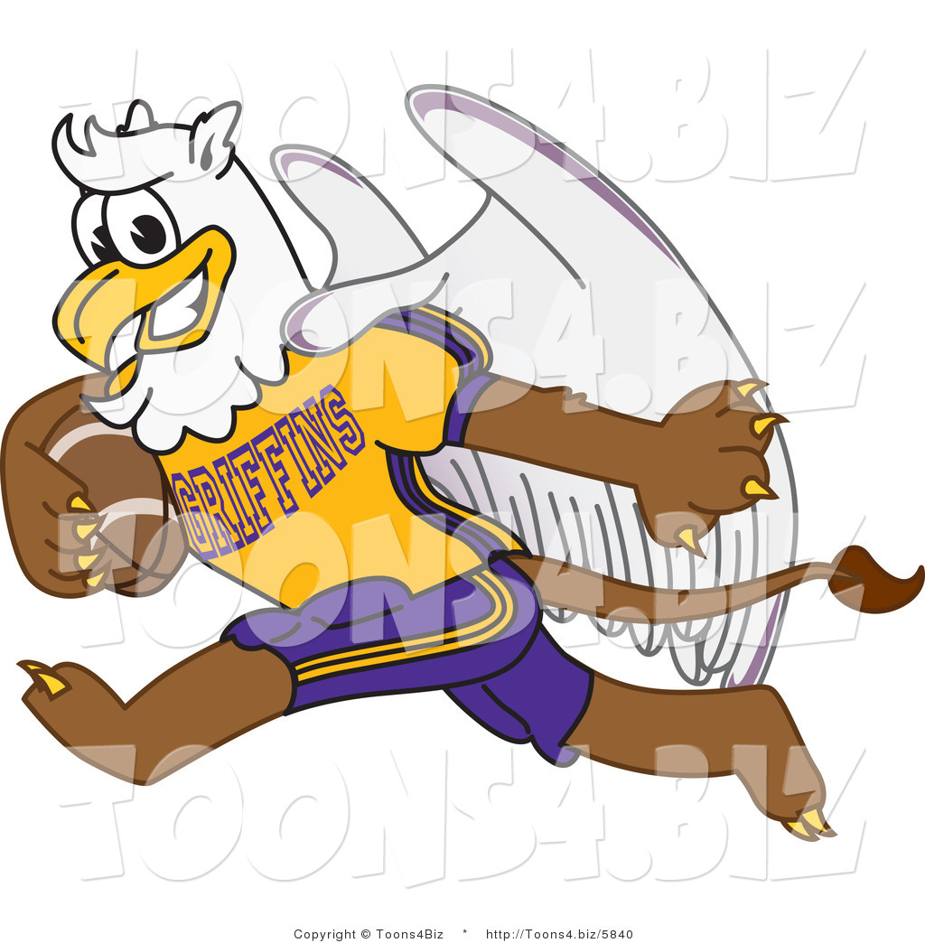 1024x1044 Vector Illustration Of A Cartoon Griffin Mascot Playing Football