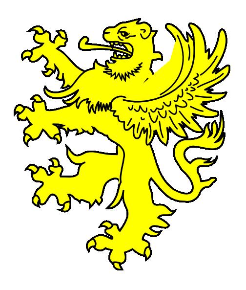 504x593 Yellow Gryphon Clip Art