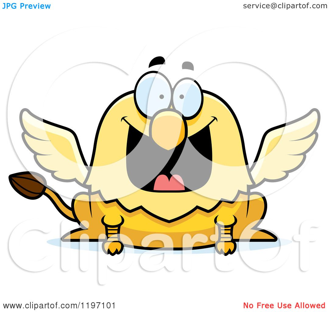 1080x1024 Cartoon Of A Grinning Griffin