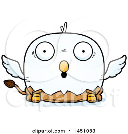 450x470 Clipart Graphic Of A Cartoon Surprised Griffin Character Mascot