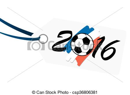 450x332 Hangtag With Lettering 2016 With France National Colors . Vector