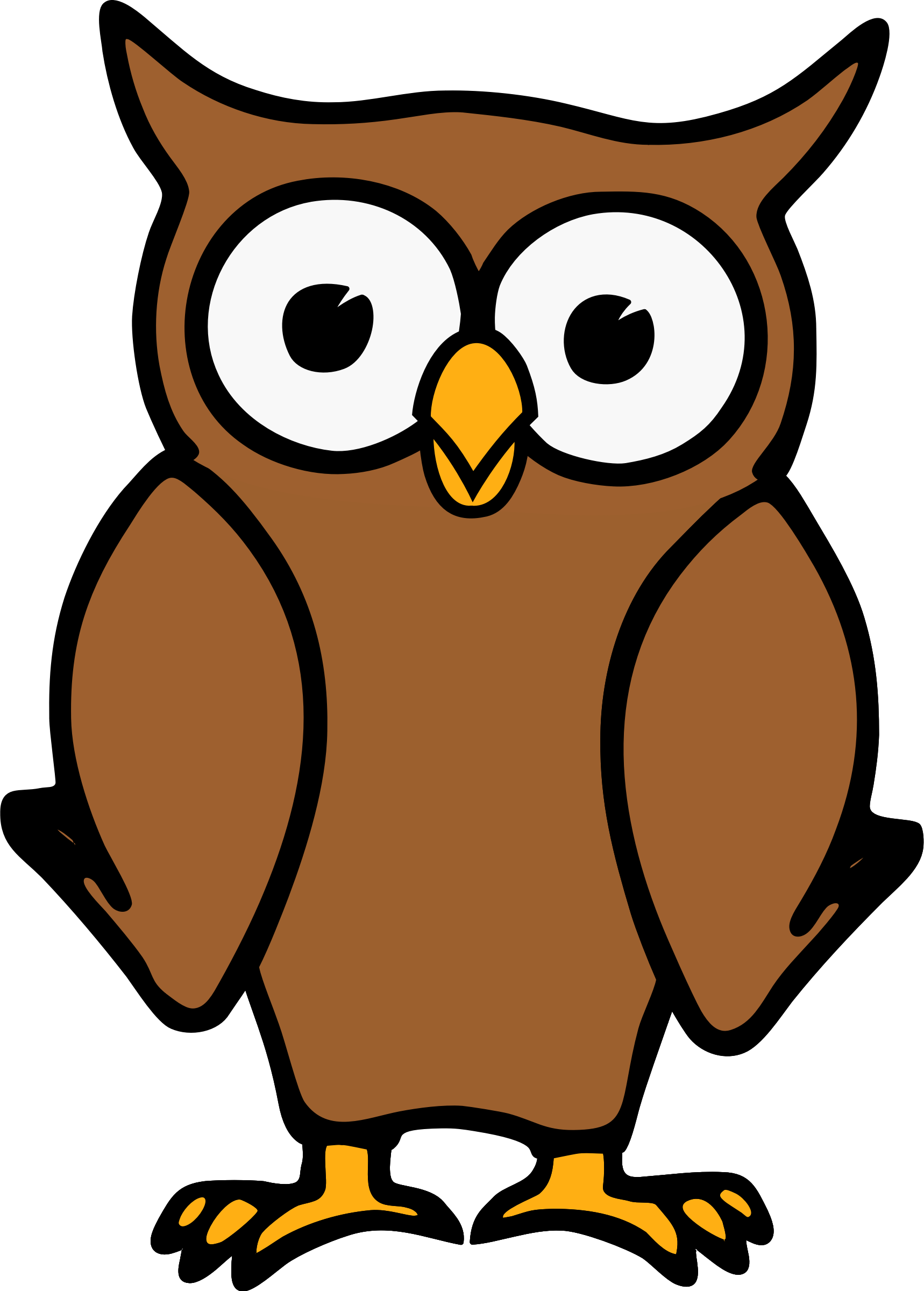 1718x2400 Incredible Clipart Owl Free Clipartmonk Clip Art Images Clipartix