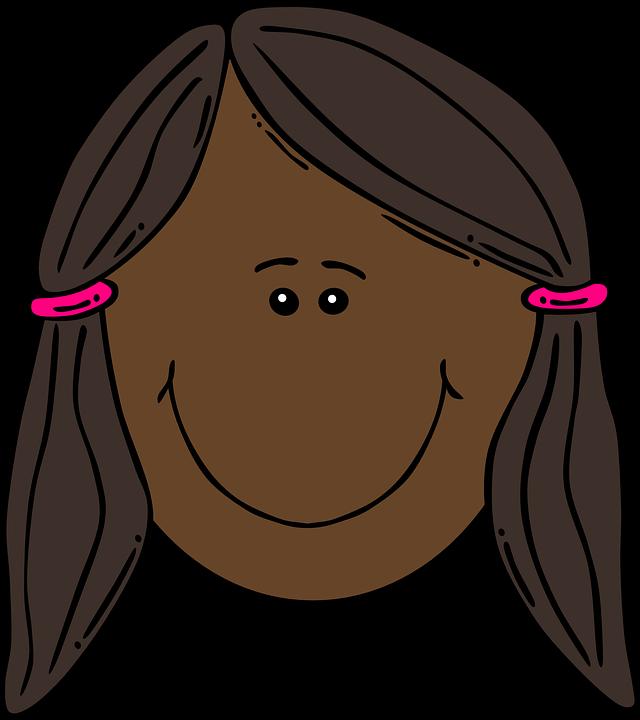 640x720 Pink Hair Clipart Pigtail Hair