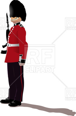 262x400 Colorful Silhouette Of Beefeater