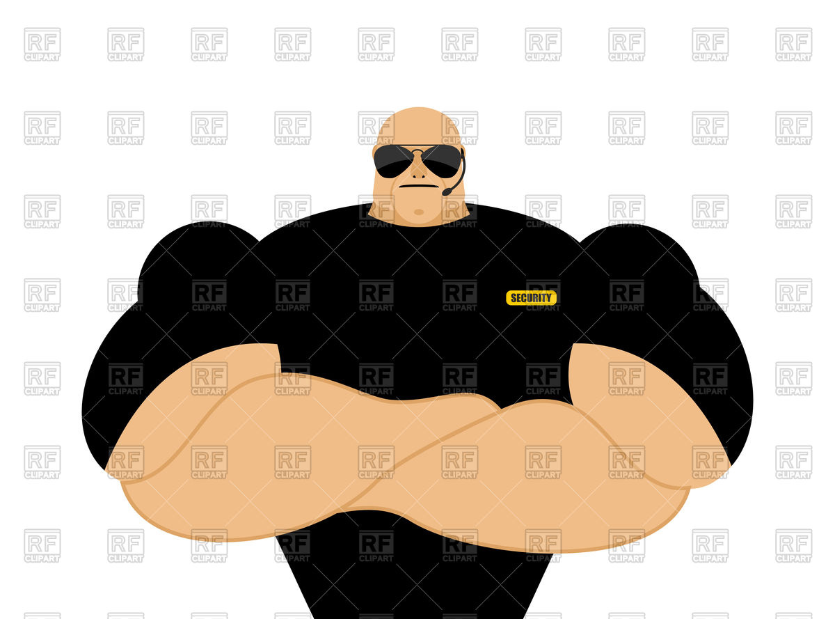 1200x889 Security Guard Royalty Free Vector Clip Art Image