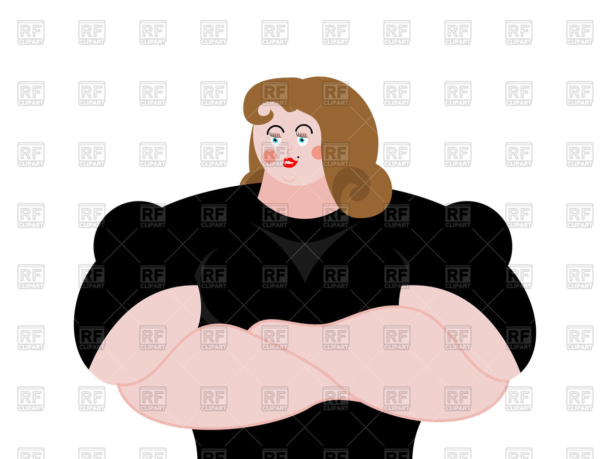 1200x902 Strong Woman Guard In Black Suit Royalty Free Vector Clip Art