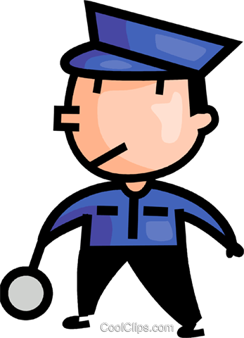 347x480 Crossing Guard Royalty Free Vector Clip Art Illustration Vc106619